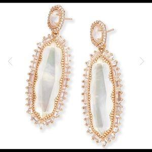 Kendra Scott rose gold kalina drop bridal earrings